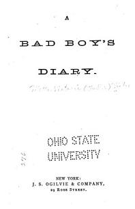 A Bad Boy s Diary PDF