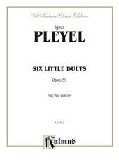 Six Little Duets, Opus 59: For Two Violins
