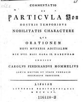 """Commentatio de particula """"Von"""" nostris temporibus nobilitatis charactere"""
