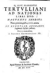 Ad nationes libri duo