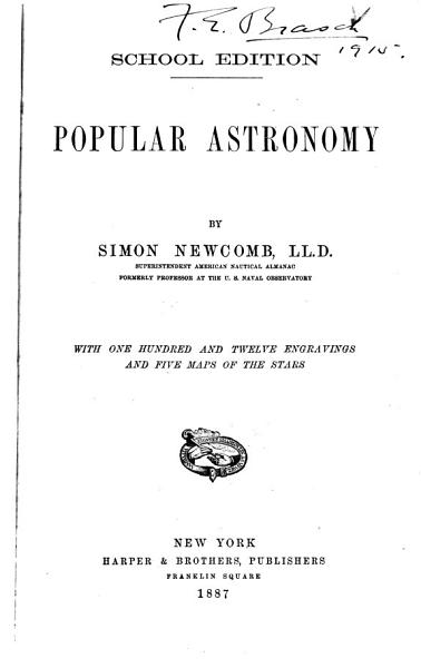 Download Popular Astronomy Book