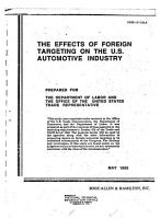 The Effects of Foreign Targeting on the U S  Automotive Industry PDF