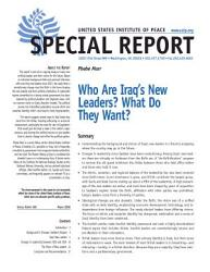 Who Are Iraq S New Leaders What Do They Want  Book PDF