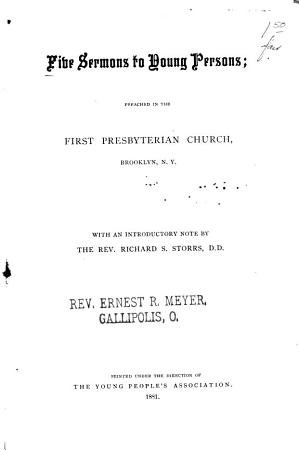 Five Sermons to Young Persons PDF