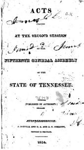 Public and Private Acts of the State of Tennessee Passed by the General Assembly