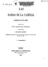 Las damas de la Camelia: zarzuela en un acto
