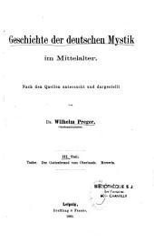 Geschichte der Deutschen Mystik im Mittelalter