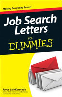 Job Search Letter Samples For Dummies PDF