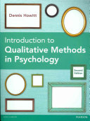 Introduction to Qualitative Methods in Psychology PDF