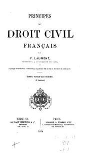 Principes de droit civil français: Volume28