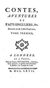 Contes, aventures et faits singuliers, &c: Volume2