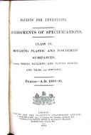 Download Patents for Inventions  Abridgments of Specifications Book