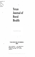 Texas Journal of Rural Health PDF