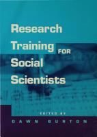 Research Training for Social Scientists PDF