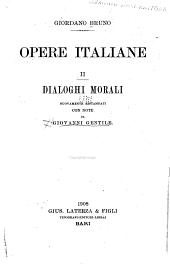 Opere italiane ...: Dialoghi morali