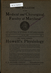 The Bulletin of the Medical and Chirurgical Faculty of Maryland: Volume 4, Issue 1