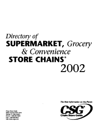 Directory of Supermarket  Grocery   Convenience Store Chains PDF