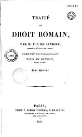 Traité de droit romain: Volume 1