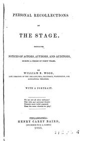 Personal Recollections of the Stage