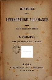 Histoire de la littérature allemande d'après le Dr. Hermann Kluge