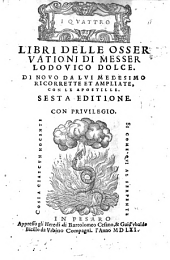 Quattro libri delle Osservationi