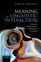 Meaning in Linguistic Interaction PDF
