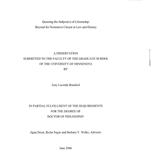 Queering the Subject s  of Citizenship PDF