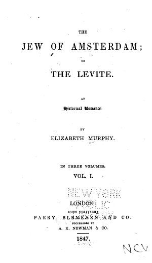 The Jew of Amsterdam  Or The Levite