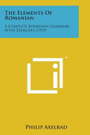 The Elements of Romanian PDF