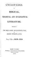 Cyclopaedia of Biblical  Theological  and Ecclesiastical Literature  New Pes PDF