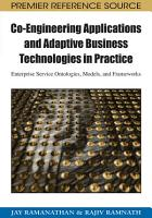 Co Engineering Applications and Adaptive Business Technologies in Practice  Enterprise Service Ontologies  Models  and Frameworks PDF
