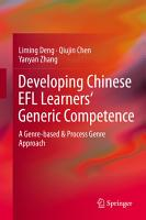 Developing Chinese EFL Learners  Generic Competence PDF