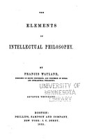 The Elements of Intellectual Philosophy PDF