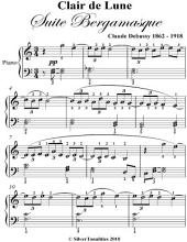 Clair de Lune Suite Bergamasque Elementary Piano Sheet Music
