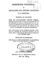 Nosografía filosófica ó Aplicación del método analítico á la medicina: Volumen 1