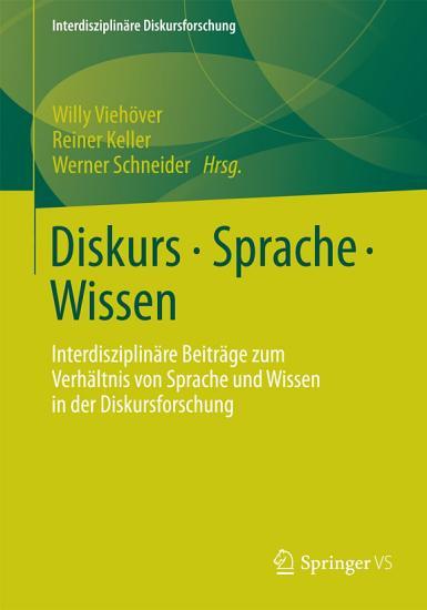 Diskurs   Sprache   Wissen PDF