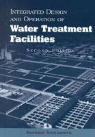 Integrated Design and Operation of Water Treatment Facilities PDF
