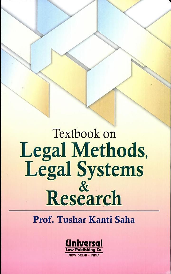 Textbook on Legal Methods, Legal Systems and Research