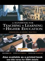 A Handbook for Teaching and Learning in Higher Education PDF