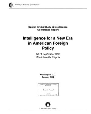 Intelligence for a New Era in American Foreign Policy PDF