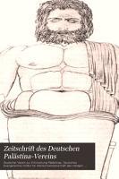 Zeitschrift des Deutschen Pal  stina Vereins PDF