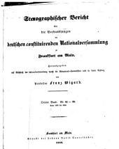 Stenographischer Bericht über die Verhandlungen der Deutschen consituirenden Nationslversammlung zu Frankfurt am Main: Band 3