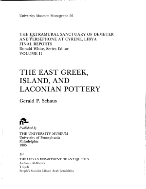 The Extramural Sanctuary of Demeter and Persephone at Cyrene  Libya  Final Reports  Volume II PDF