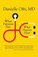 What Patients Say  what Doctors Hear PDF