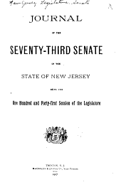 Journal of the ... Senate of the State of New Jersey: Being the ... Session of the Legislature, Volume 141