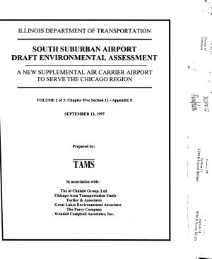 South Suburban Airport  Chicago Region  Draft Environmental Assessment  EA  B1 3v   Phase I Engineering Report Summary Draft B2  Letter of Transmittal and Press Release B3  Final Environmental Assessment  EA  PDF
