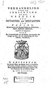 Verhandeling over de inrichting en het gebruik der octanten en sextanten van Hadley