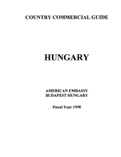 Hungary: Country Commercial Guide, Fiscal Year 1998