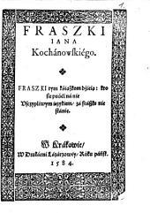Fraszki Jana Kochanowskiego