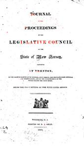 Journal of the Proceedings of the Legislative-Council of the State of New-Jersey: Volume 53